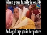 When your family is on Facebook and a girl tags you in her picture!