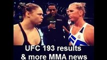 MMA Update; UFC 193 results (Ronda Rousey vs Holly Holm) & more news