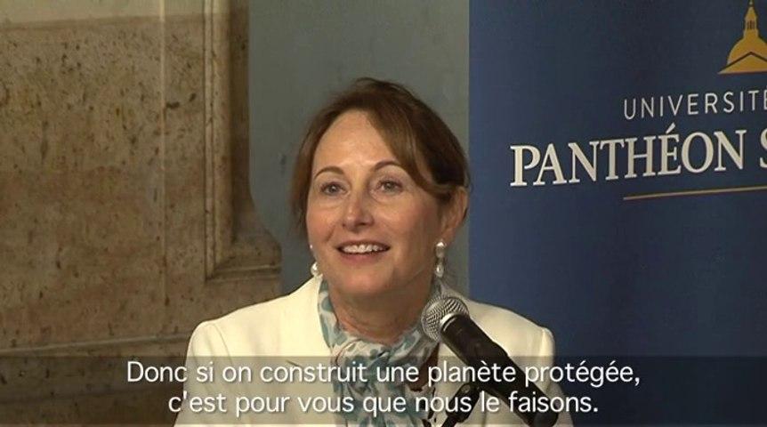 J - 4 avant la COP21 : Ségolène Royal et Plantu