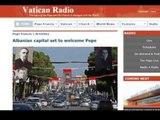 ROME,MEDIA ZYRTARE RADIO VATIKANI KOMENTON PERGATJET NE TIRANE PER VIZITEN E PAPES LAJM