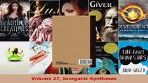 Read  Volume 27 Inorganic Syntheses Ebook Free