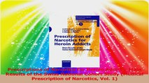 Prescriptions of Narcotics for Heroin Addicts Main Results of the Swiss National Cohort Download