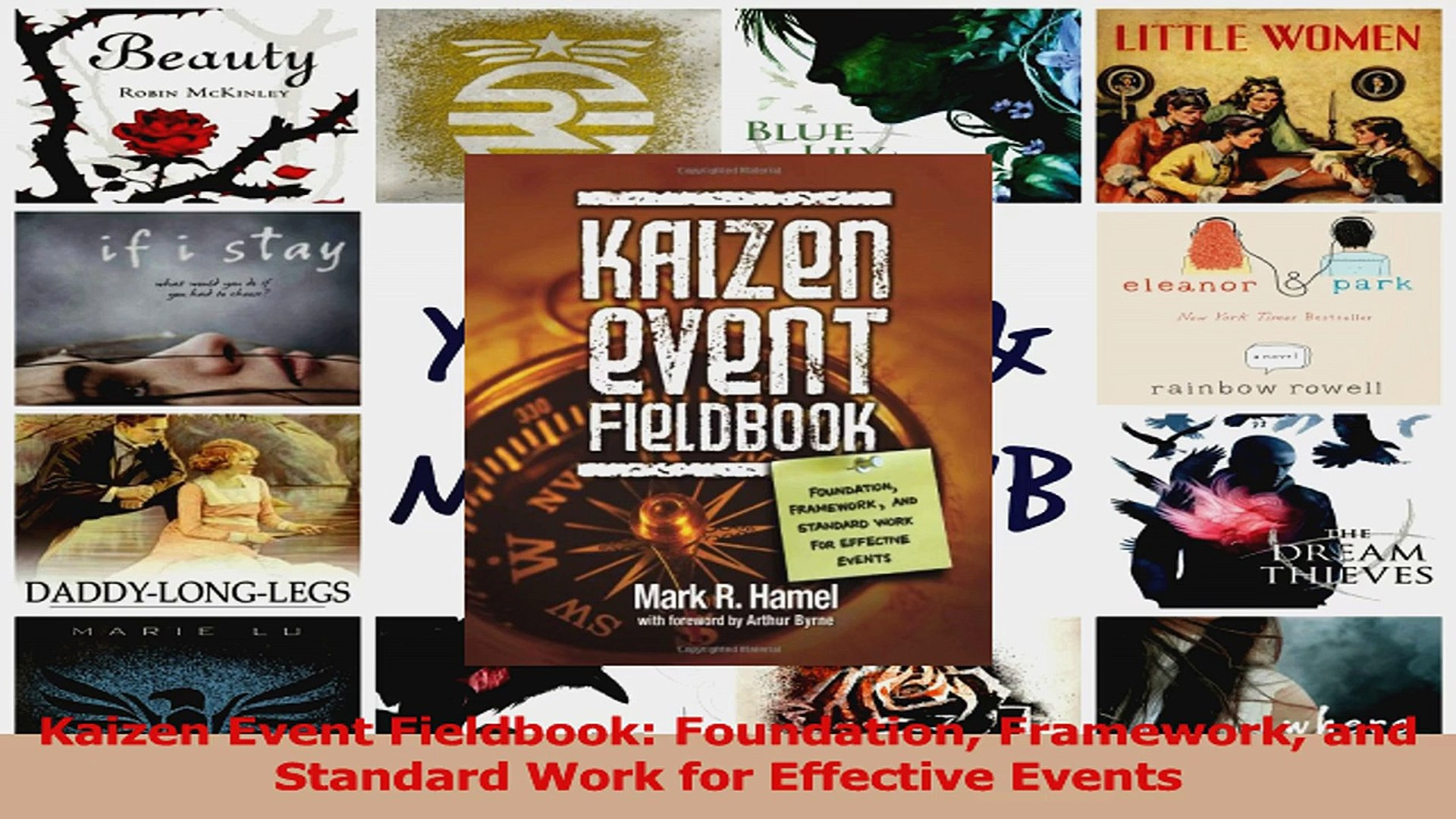 Read  Kaizen Event Fieldbook Foundation Framework and Standard Work for Effective Events Ebook Free