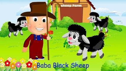 Baa Baa Black Sheep Nursery Rhymes for Children | English Cartoon Rhymes for Kidss