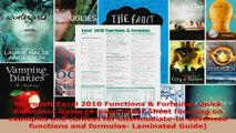 Download  Microsoft Excel 2010 Functions  Formulas Quick Reference Guide 4page Cheat Sheet PDF Online