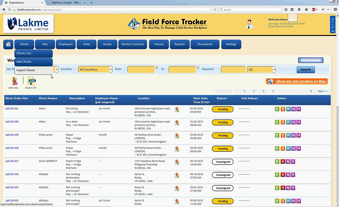 Tracking Field Employee Management Software