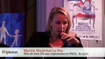 La Manif pour Tous : un cactus entre Marine Le Pen et Marion Le Pen