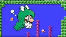 Super Mario en grenouille dans Super Mario Maker.