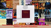 Read  Nutrient Requirements of Swine Eleventh Revised Edition Animal Nutrition Ebook Free