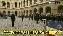 Hommage aux victimes : la Marseillaise retentit aux Invalides