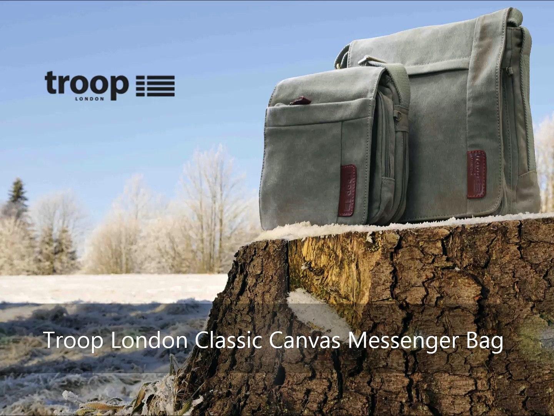 Troop London Classic Canvas Messenger Bag   Buy Bags online   Canvas Bags   Troop London