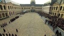 Autorità e cittadini francesi nell'omaggio alle vittime di Parigi