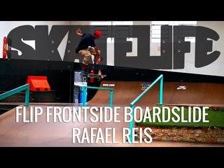 Flip Frontside Boardslide | Tutorial #SKATELIFE | Rafael Reis