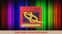 Download  High angle rescue techniques PDF Free
