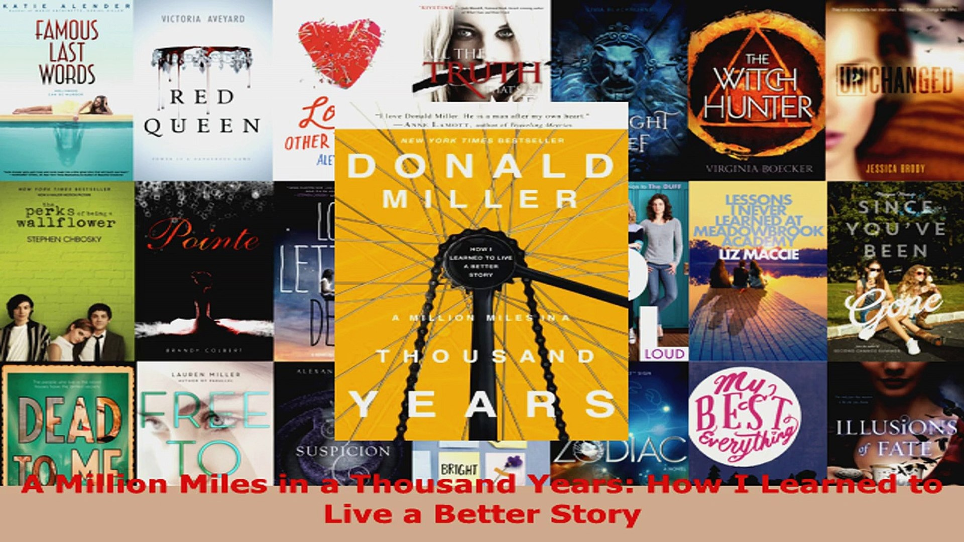 Download  A Million Miles in a Thousand Years How I Learned to Live a Better Story Ebook Free
