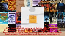 Read  The National Directory of Editors and Writers Freelance Editors Copyeditors Ghostwriters EBooks Online