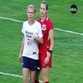 Bayan futbolcu sınırları zorluyor!