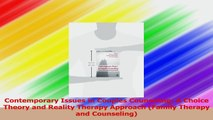 Read  Contemporary Issues in Couples Counseling A Choice Theory and Reality Therapy Approach Ebook Online