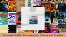 Read  Personal Conflict Management Theory and Practice Ebook Free