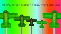 7 Yellow Flute Green Plane Red Sport Car and Horse Finger Family Barney Sugar Nursery Rhym