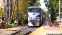 Amtrak Trains FAREWELL TRAIN HORNS IN SAN JUAN CAPISTRANO, CA