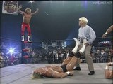 Hulk Hogan saves Sting & Lex Luger from the Horsemen, WCW Monday Nitro 27.11.1995