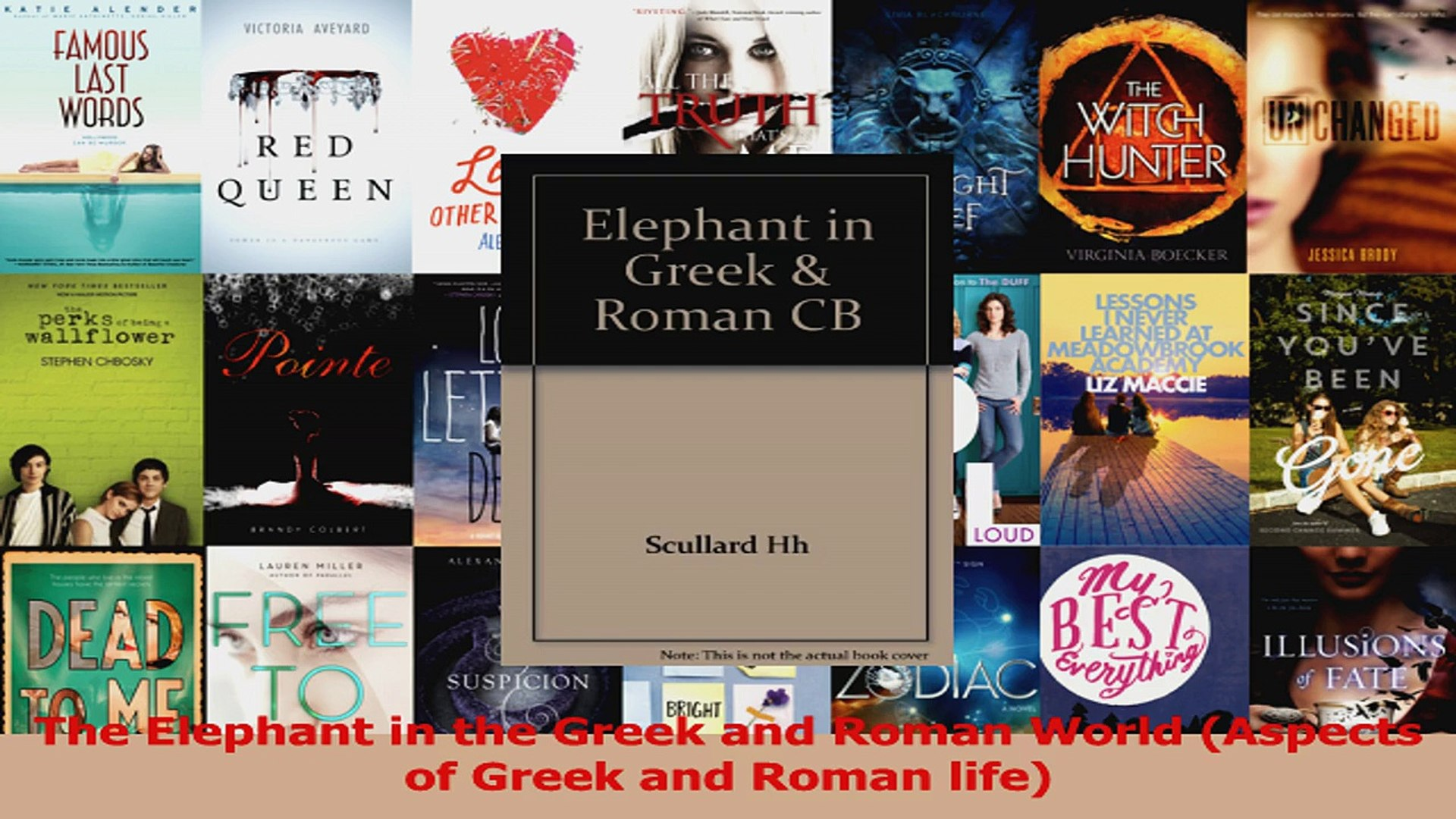 PDF Download  The Elephant in the Greek and Roman World Aspects of Greek and Roman life PDF Online