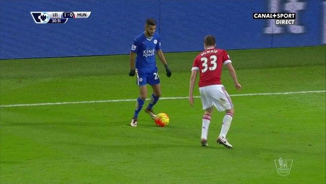 Magnfique virgule de Mahrez contre Manchester United