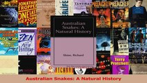PDF Download  Australian Snakes A Natural History PDF Online