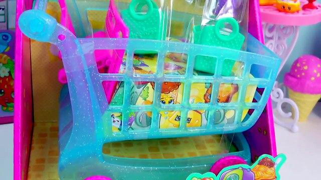 Shopkins Season 3 LARGE BLUE SHOPPING CART Blind Bag Micro Lite Queen Elsa Disney Frozen U