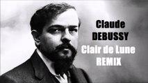Claude DEBUSSY Clair de Lune Remix (musique) - Sur des vidéos de la NASA sur la Lune
