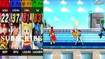 Roy VS Ryu VS Lucas VS Lucario - Super Smash Bros 4