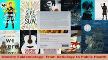 Read  Obesity Epidemiology From Aetiology to Public Health Ebook Free