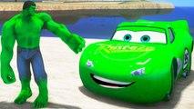 HULK CARS SMASH PARTY! Custom Green Lightning McQueen CARS!!   Finger Family Son
