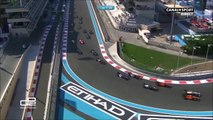GP2 2015 course 2 a Abu Dhabi - Gros carton au 1er tour - course annulée !