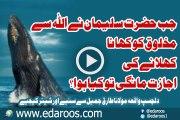 Jab Hazrat Sulaiman Ne Makhlooq Ko Khana Khelanay Ki Ijazat Mangi By Maulana Tariq Jameel