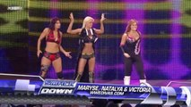 The Bella Twins and Michelle McCool vs. Maryse, Natalya and Victoria