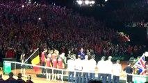 Coupe Davis: remise des prix à l'équipe belge battue par la Grande-Bretagne