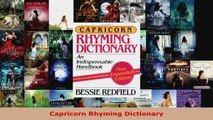 Download  Capricorn Rhyming Dictionary PDF Free