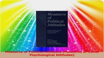 Measures of Political Attitudes Measures of Social Psychological Attitudes PDF