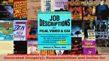 PDF Download  Job Descriptions for Film Video  Cgi Computer Generated Imagery Responsibilities and Read Full Ebook