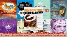 Download  Homeopathic Remedies A Quick and Easy Guide to Common Disorders and Their Homeopathic Ebook Free