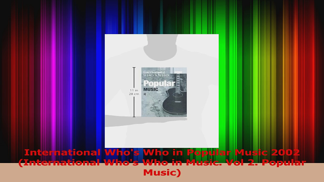 Read  International Whos Who in Popular Music 2002 International Whos Who in Music Vol 2 PDF Free