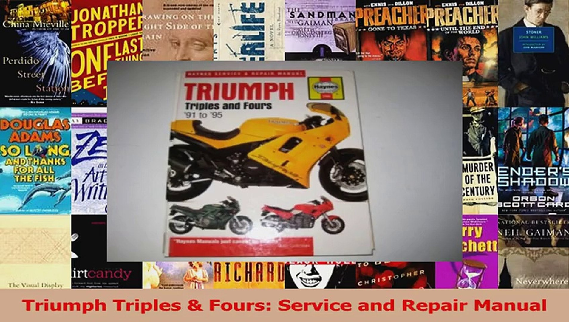 Triumph Daytona User Manual Ebook