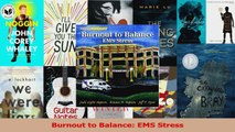 Download  Burnout to Balance EMS Stress Ebook Free