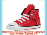 CONVERSE Unisex-Child Chuck Taylor All Star Easy Slip Slip Hi Trainers 064170-21-4 Rouge 10