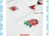 Canterbury Kids Rugby England Home Shirt 2014 2015 Sport Polo Collar Sport Top White 11-12
