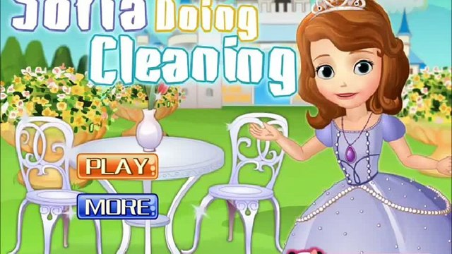 Disney Princess Sofia Doing Cleaning Gameplay-Sofia The First Movie Games
