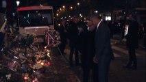 Obama al Bataclan rende omaggio alle vittime delle stragi