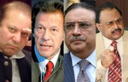 Nawaz Sharif, Imran Khan, Asif Zardari, Altaf Hussain together in Khabarnaak